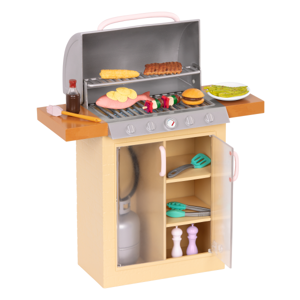 Backyard Grill BBQ Playset for 18-inch Dolls Play Food Accessories