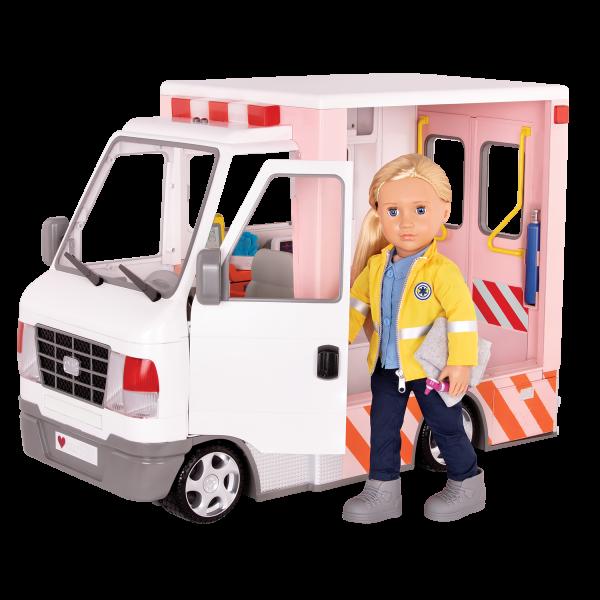 Rescue Ambulance 18-inch Doll Vehicle Playset Kaylin