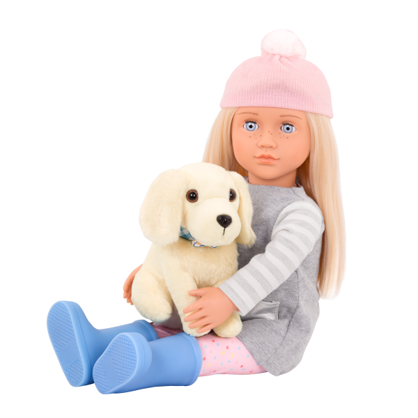 18-inch Doll Meagan & Plush Dog