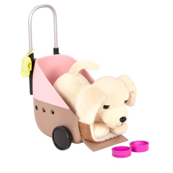 18-inch Doll Meagan & Passenger Pets Travel Set Dog Carrier