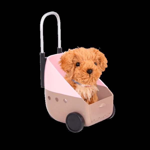 18-inch Doll Malia & Passenger Pets Travel Set Carrier