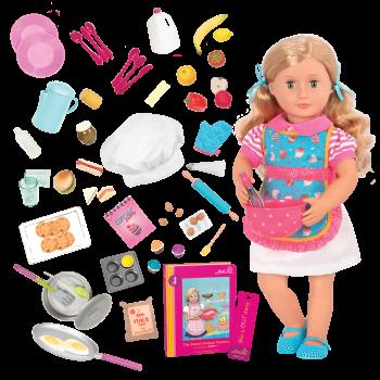 18-inch Doll Jenny & R.V. Seeing You Camper Food Playset Bundle
