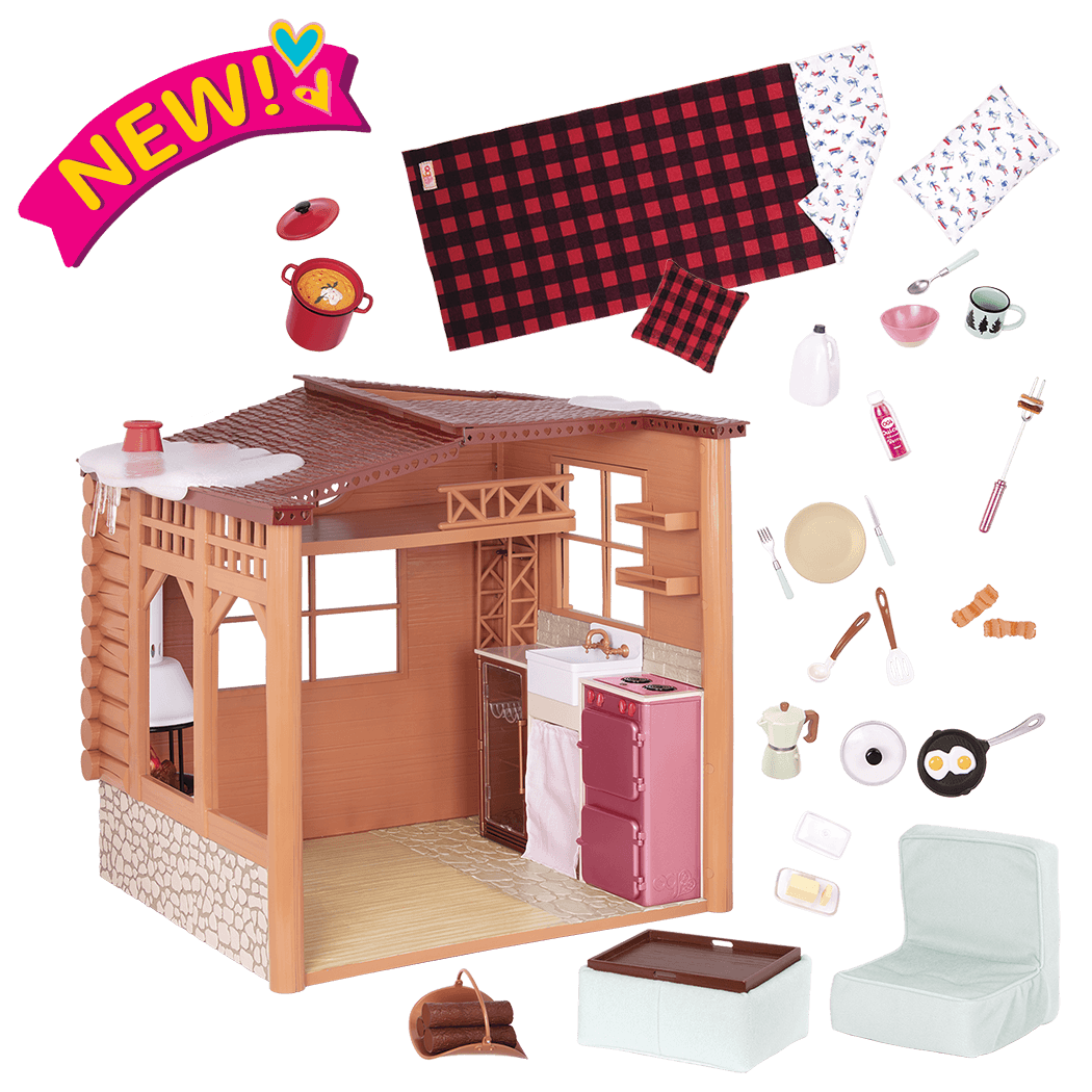 Cozy Cabin Dollhouse Playset for 18-inch Dolls