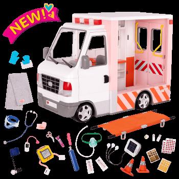Rescue Ambulance 18-inch Doll Vehicle Playset