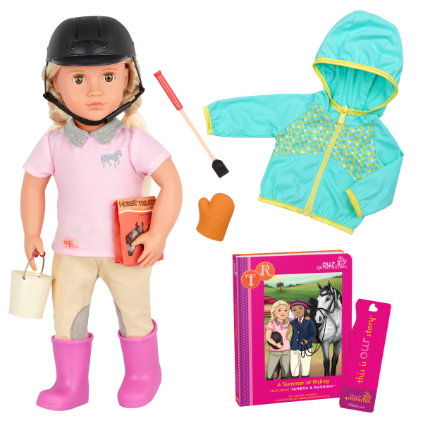 Tamera Deluxe 18-inch Riding Doll with Storybook