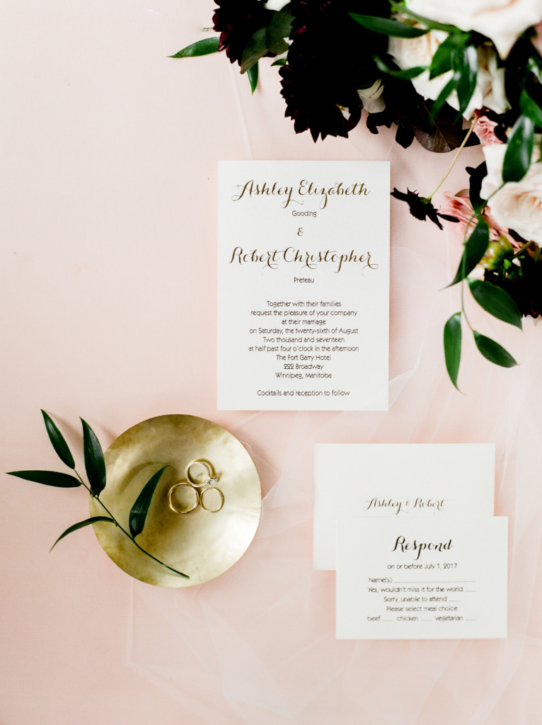 Modern hotel wedding with vintage flare by Melanie Parent Events