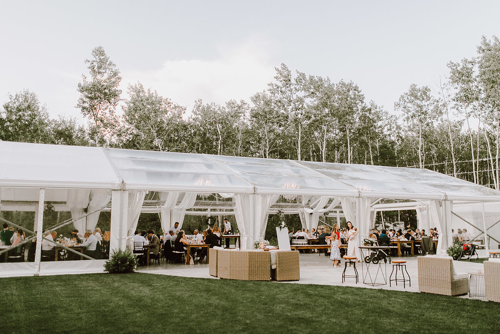 Cielo's Garden tent wedding Melanie Parent Events