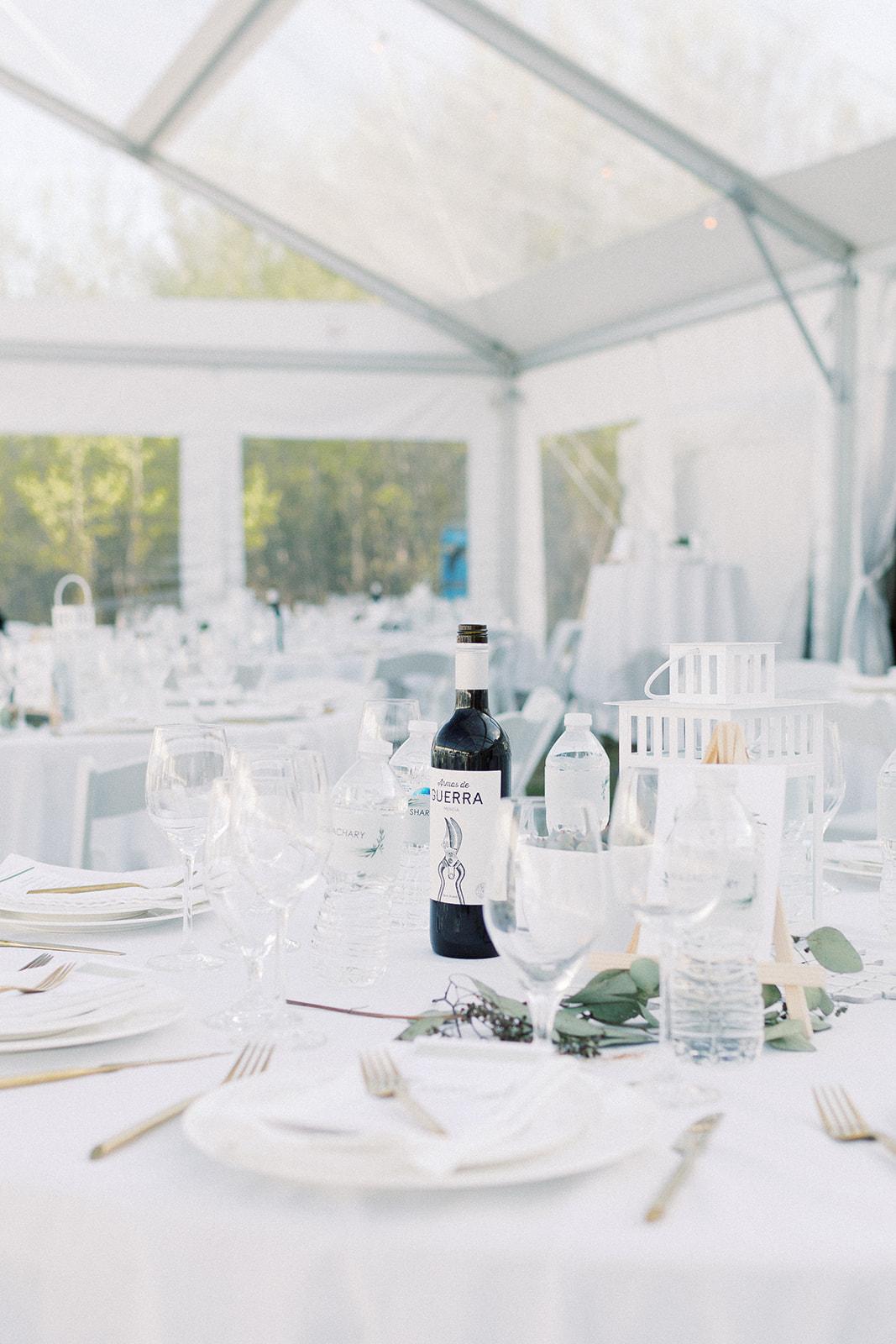 Winnipeg backyard tent wedding