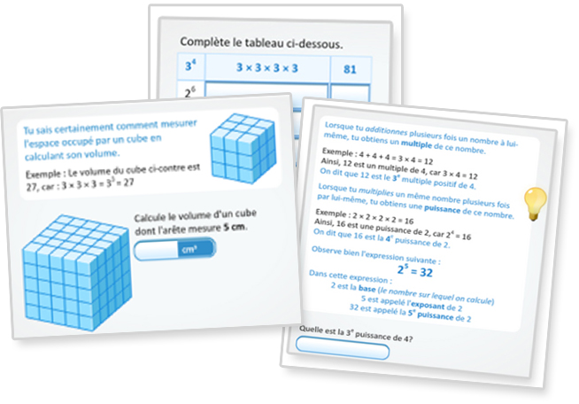 Calculer la puissance d'un nombre naturel