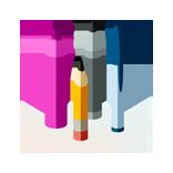 Crayons variés