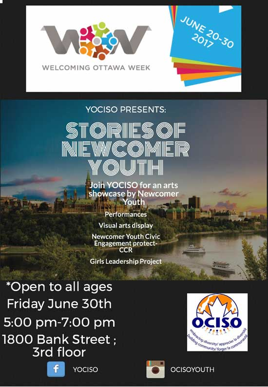 YOCISO Welcoming Ottawa Week event flyer