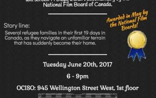 Documentary Screening flyer - Welcoming Ottawa Week 2017