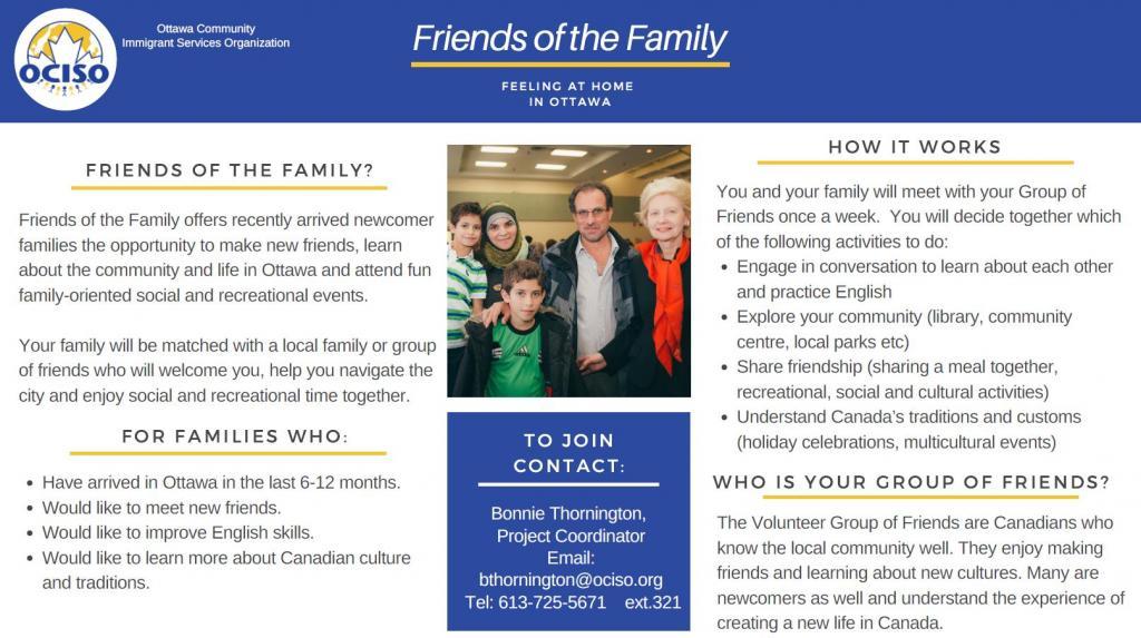 Friends of the Family Program flyer