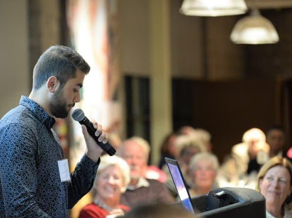 2018 MDSF fundraising dinner: MDSF award recipient giving speech