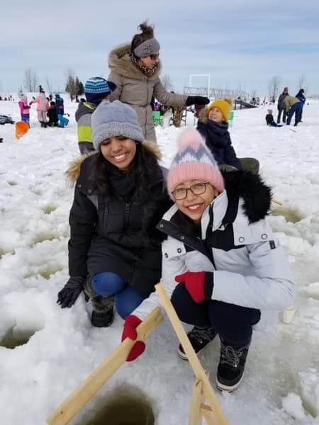 Friends of Family ice fishing day for newcomers #2