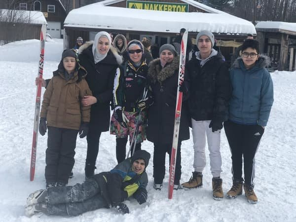 Friends of Family ski/snowshoe day for newcomers #3