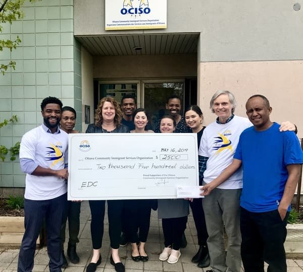 2019 Run for a New Start Cheque presentation