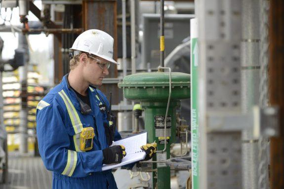 Worker in a bulk plant