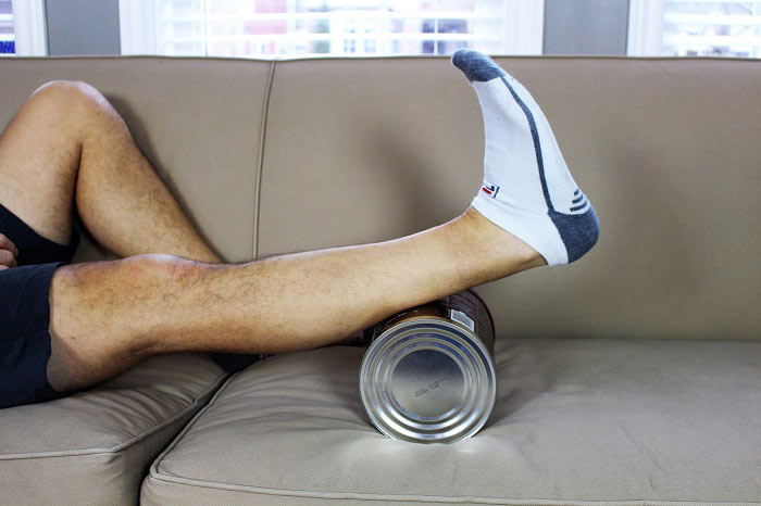calf pumping on a can