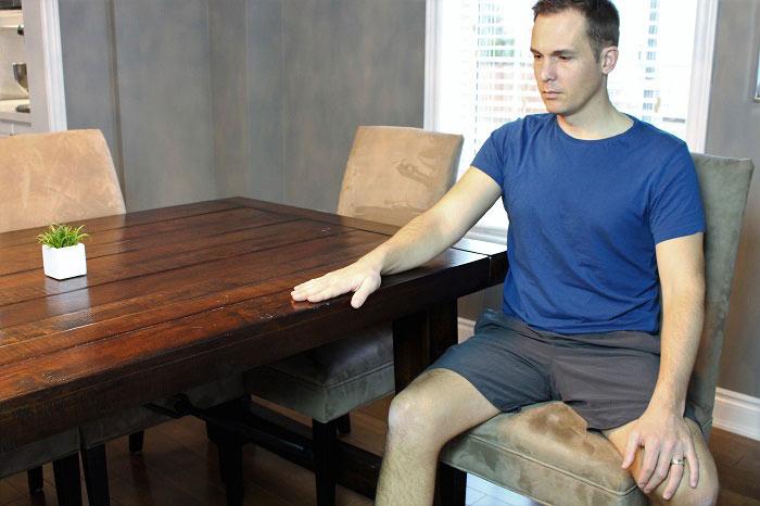 shoulder table glides starting position