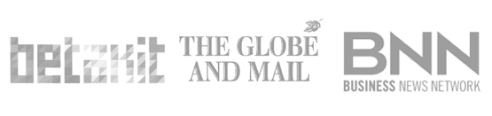betakit, globe and mail, BNN logos