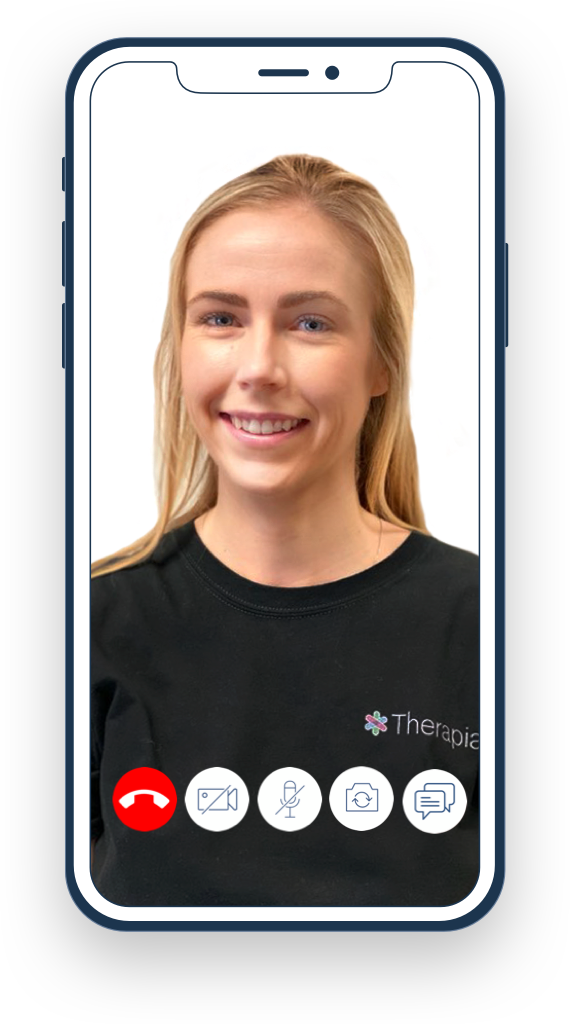 Therapia video physiotherapy mobile headshot