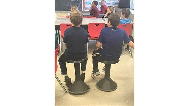C-FC teacher using Tools For Schools award for kinesthetic learning