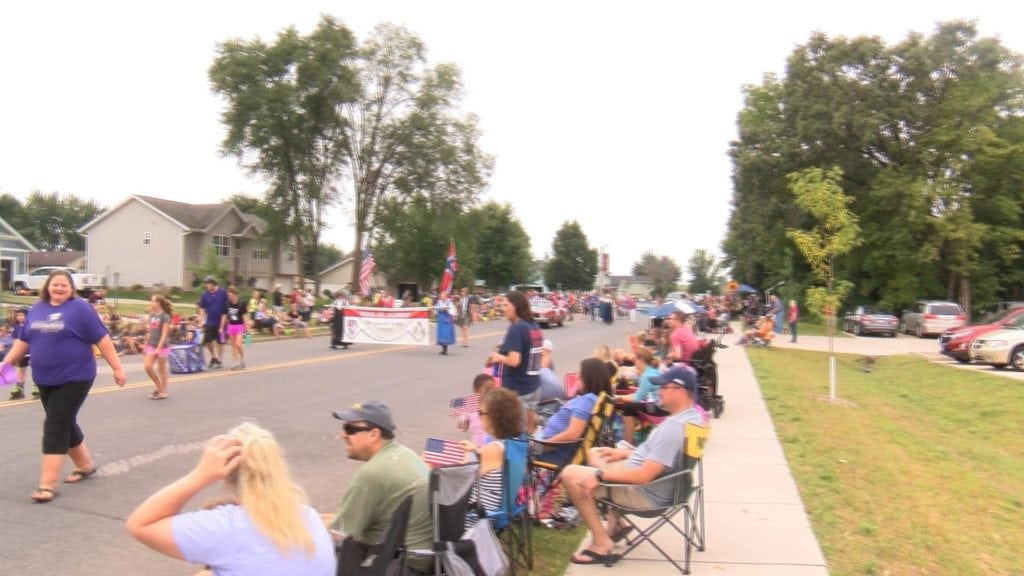 Residents line the streets for the Kornfest Parade