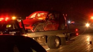 One of the cars involved.