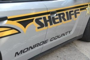 Monroe County sheriff squad car-side of car
