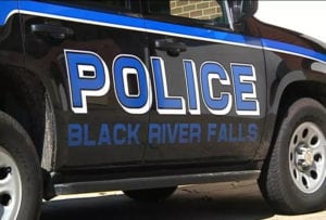 Side of a Black River Falls police car