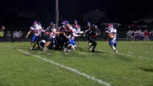 Bryce Burns finding his way into the end zone.