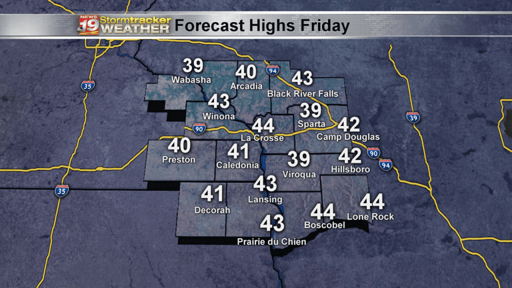 Friday Forecast Highs