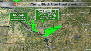 Trempealeau & Black River Flood Warnings