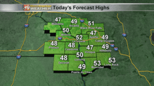 Today's Forecast Highs