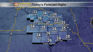 Thursday's Forecast Highs