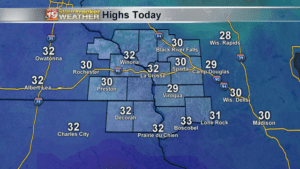 Highs Wednesday