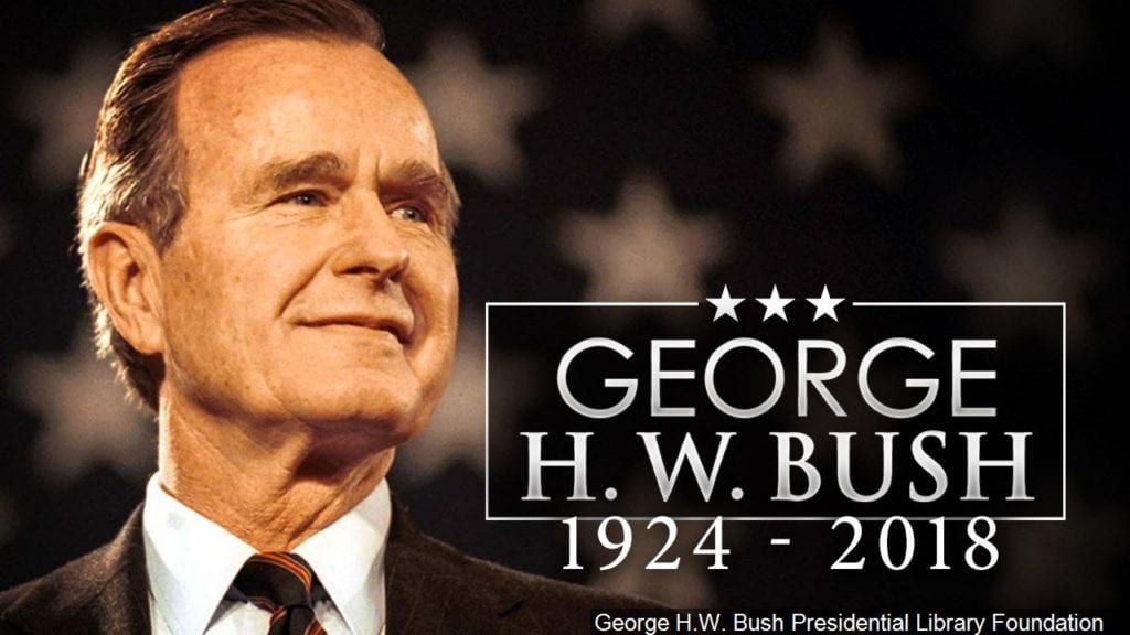 Presidents, others praise former President George H.W ...