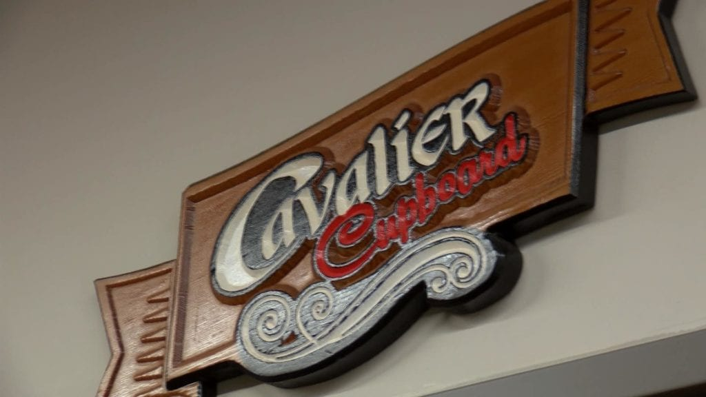 Sign for Cavalier Cupboard