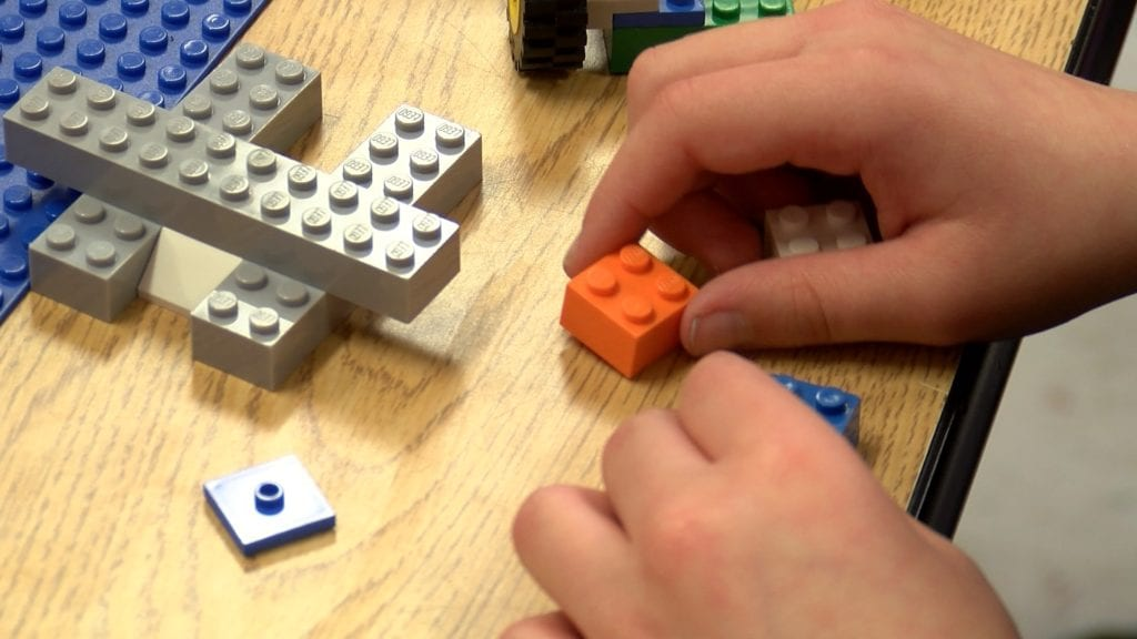 "Using ""Tools for Schools"" to build a LEGO wall"