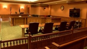 Courtroom at the Winona County Courthouse.