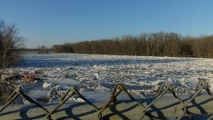 West Mississippi Channel Ice Jam