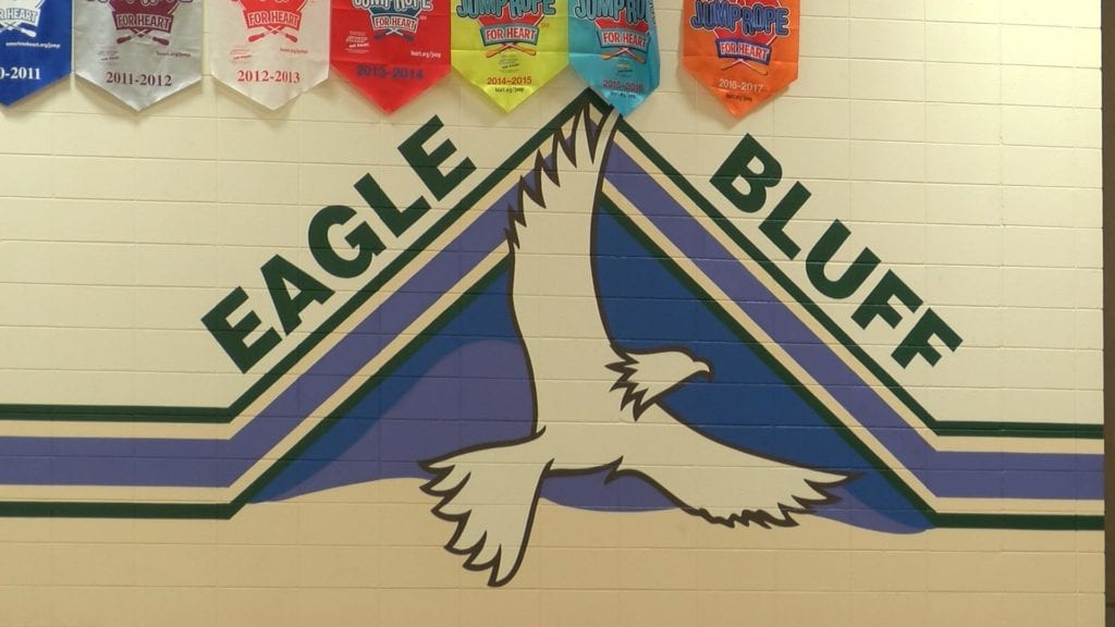 First day of school for students at Eagle Bluff Elementary