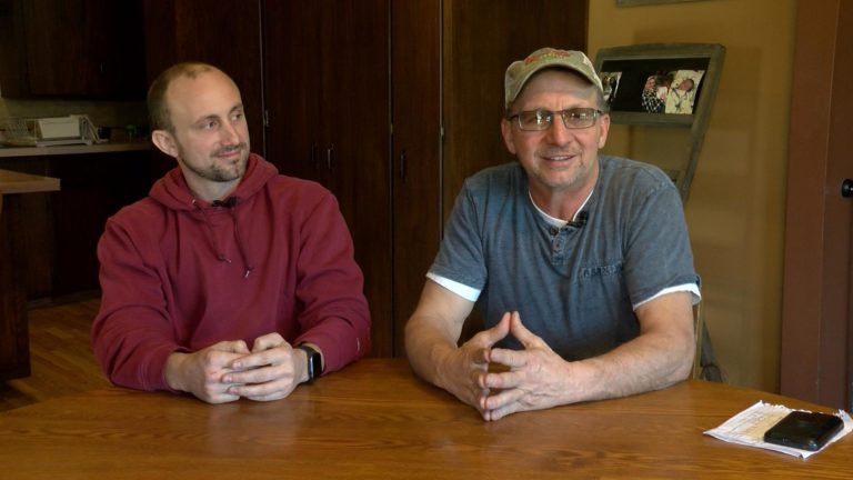 Karl and Rick Geske talk switching their farm operation.