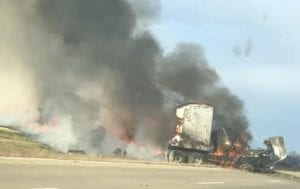 Two semi-trucks collide on U.S. Highway 151