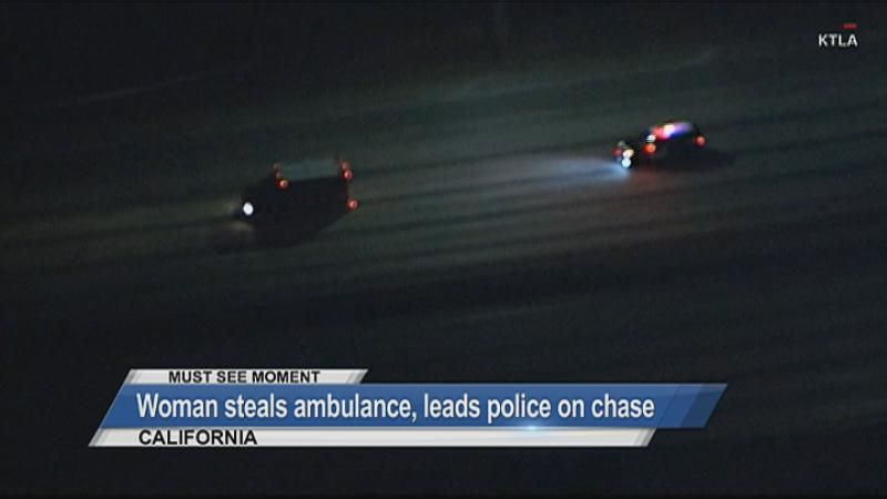 MUST SEE: Woman steals ambulance, leads police on chase