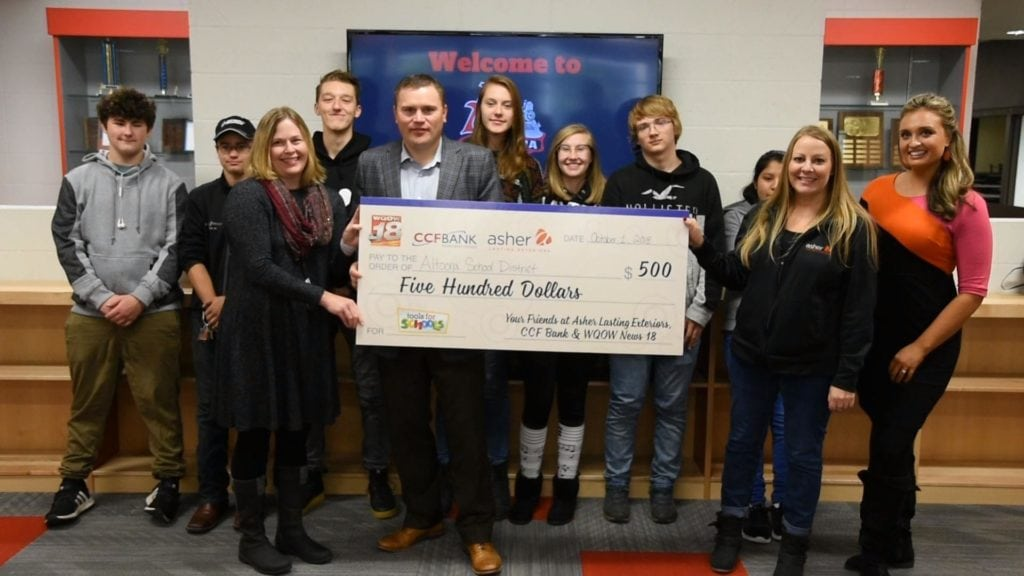Tools for Schools grant awarded to Altoona School District for care closet