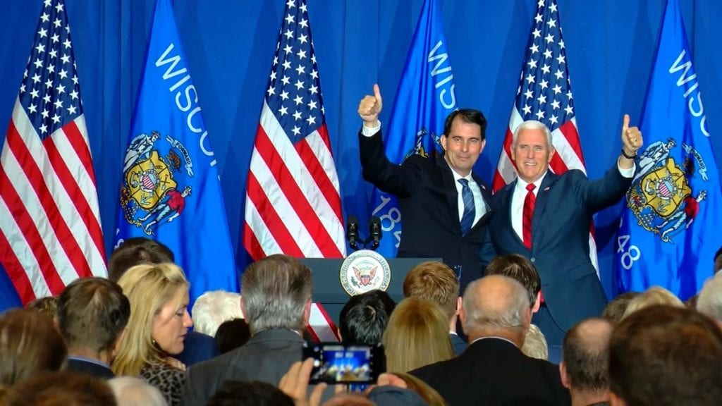 Pence holds fundraiser for Walker, promotes accomplishments of GOP