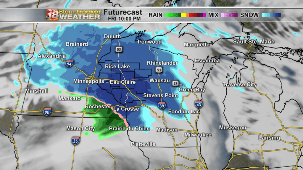 Notice: Light snow will bring minor accumulations to Eau Claire