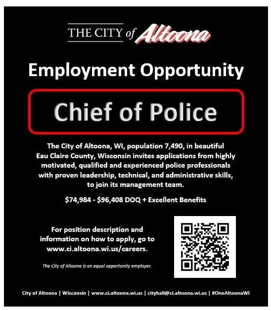 Election costs Altoona its police chief